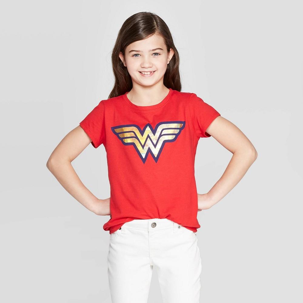 Girs Wonder Woman Short Seeve T Shirt