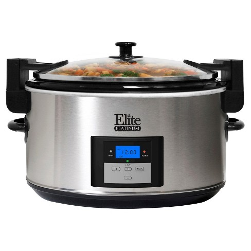Elite Platinum Electric Slow Cooker - Silver - image 1 of 1