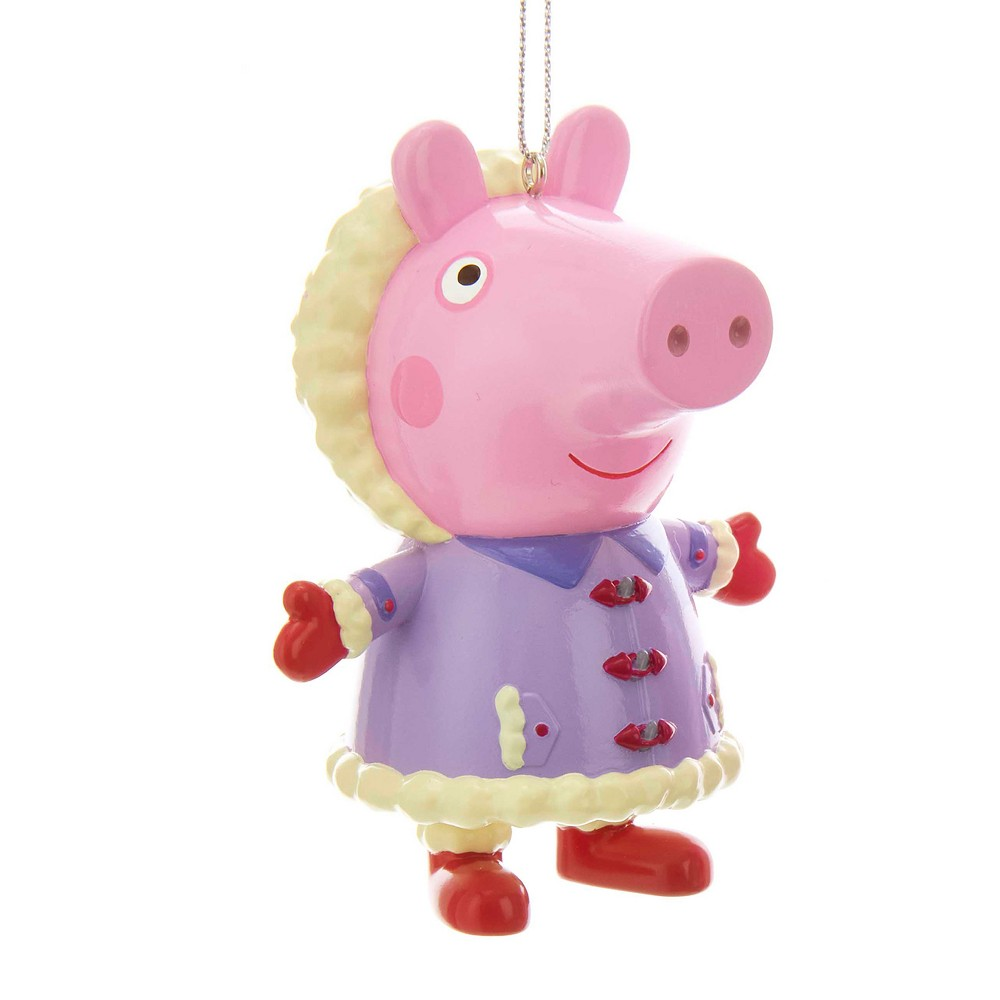 Peppa Pig Purple Coat Christmas Tree Ornament, Multi-Colored