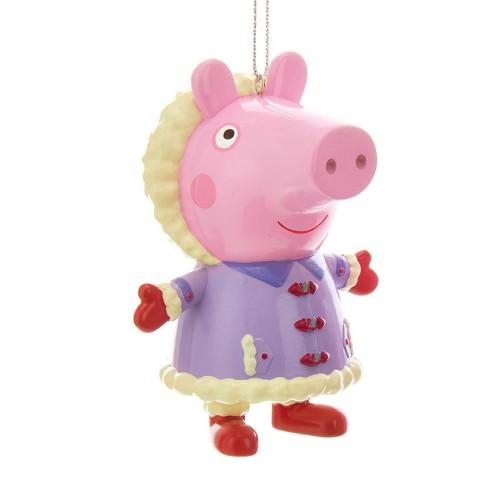 Peppa Pig Christmas.Peppa Pig Purple Coat Christmas Tree Ornament