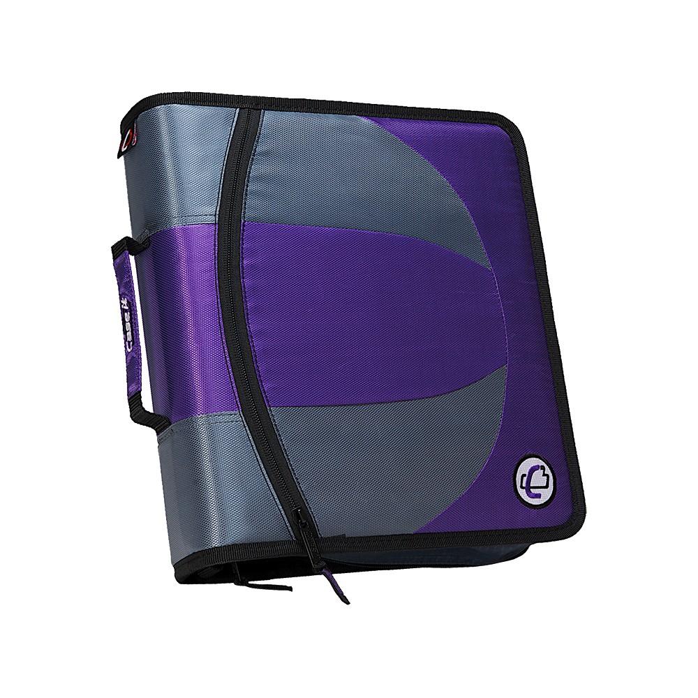 "Image of ""1.5"""" Ring Zipper Binder Two-tone Purple - Case-it"""