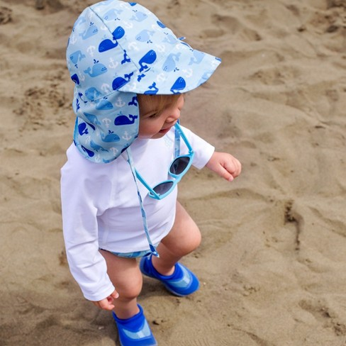 3481ee73325 I Play Baby Boys  Anchor Whale Floppy Hat - Blue   Target