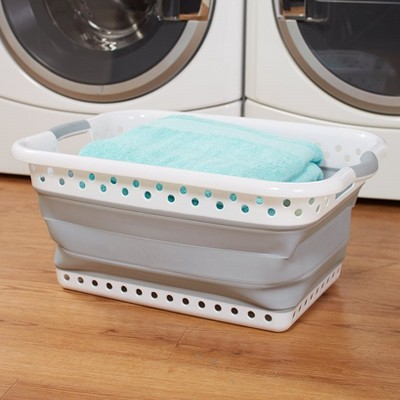 Lakeside Easy to Store Large Plastic Collapsible Laundry Basket