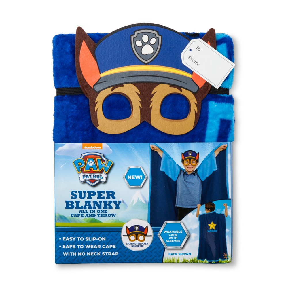 Paw Patrol 40'x50 Chase Super Blanky Bed Blanket