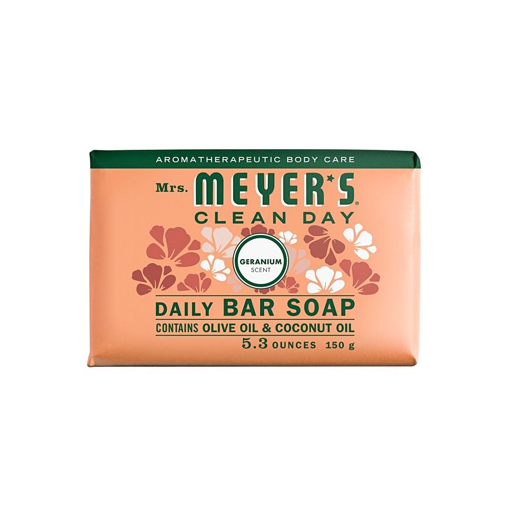 Mrs. Meyer's Geranium Daily Bar Soap - 5.3oz
