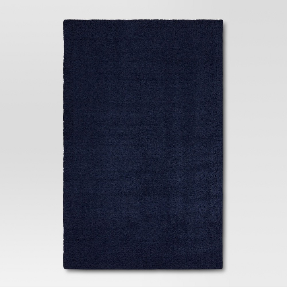 6'6x10' Solid Tufted Area Rugs Navy (Blue) - Project 62