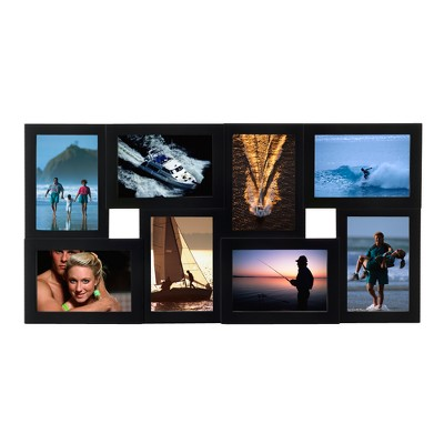 Dimensional 8-Opening Collage Frame Black 4 x6  - Room Essentials™