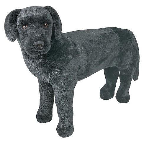 Melissa Doug Giant Black Lab Lifelike Stuffed Animal Dog Over