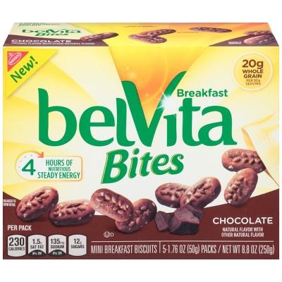 Bel Vita Bites Chocolate Breakfast Biscuit   8.8oz/5ct by 8.8oz/5ct