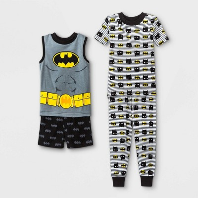 Toddler Boys' 4pc Warner Bros. Batman Pajama Set - Gray