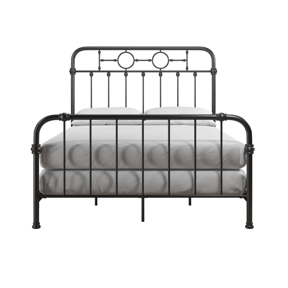 Image of Full Willow Black Metal Kids Bed - Little Seeds