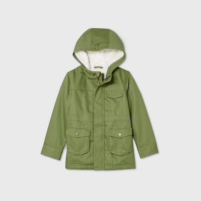 Toddler Boys' Military Jacket - Cat & Jack™ Olive 12M