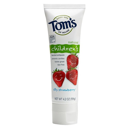 Tom's of Maine Silly Strawberry Anticavity Fluoride Natural Kids Toothpaste - 4.2oz