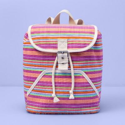 Kids' Striped Drawstring Backpack - More Than Magic™
