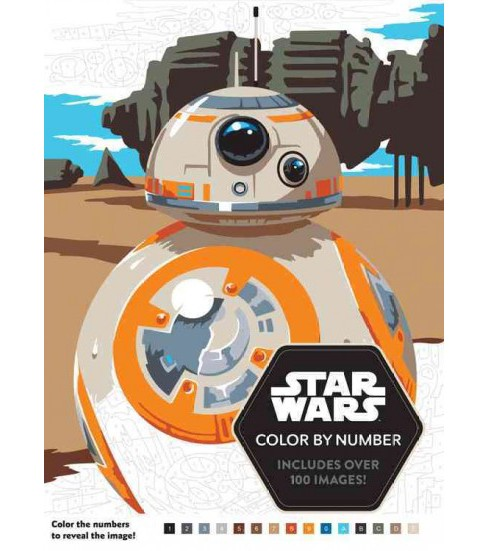 Star Wars Color By Number Paperback Target