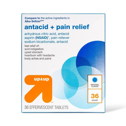Effervescent Antacid & Pain Relief Tablets - 36ct - Up&Up™ - image 1 of 3