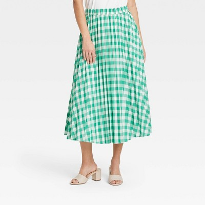 Women's Midi Pleated A-Line Skirt - A New Day™