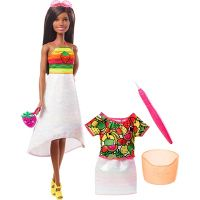 Deals on Barbie Crayola Rainbow Fruit Surprise Nikki Doll & Fashions