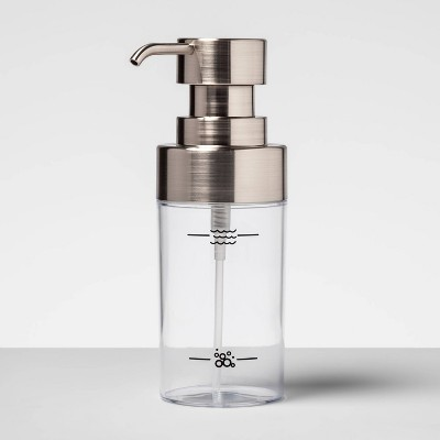 Plastic Foaming Soap Dispenser Silver - Made By Design™