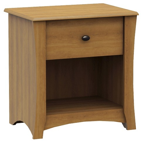 Jumper 1-Drawer Nightstand - Harvest Maple - South Shore - image 1 of 3