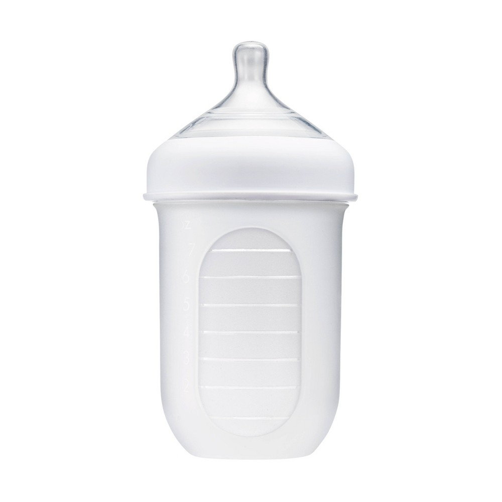 Image of Boon NURSH 8oz Silicone Bottle - Clear