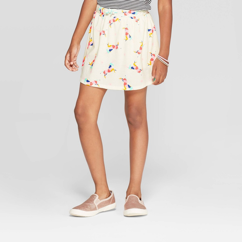 Image of Girls' Unicorn Knit Skort - Cat & Jack Cream XL, Girl's, White