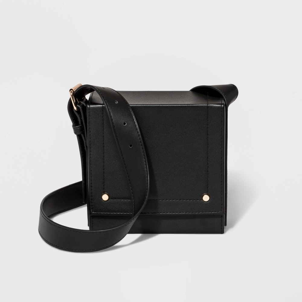 Square Crossbody Bag - A New Day Black, Women's