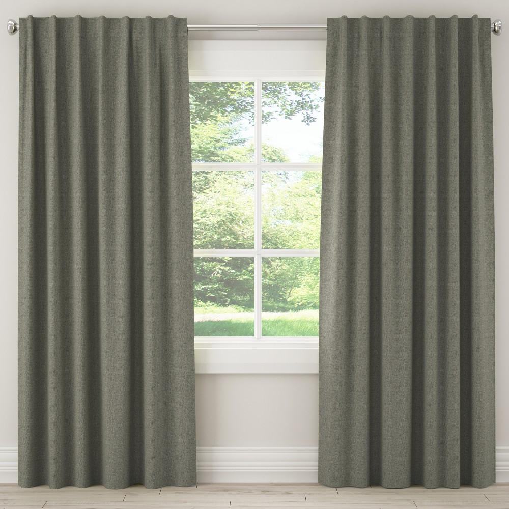 Unlined Zuma Curtain Panel Dark Gray (50x108) - Skyline Furniture