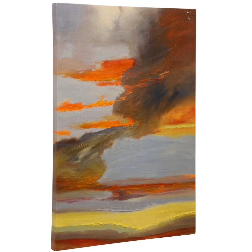 24 Oxidized Skies Ill Stretched Canvas Decorative Wall Art - StyleCraft, Multi-Colored