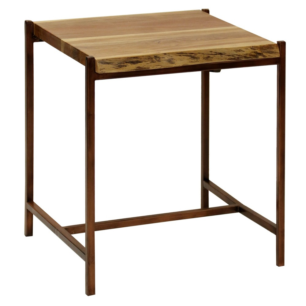 Live Edge End Table Natural Stylecraft