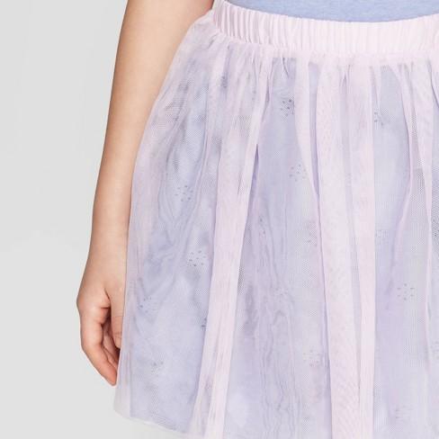 02d6ef87db Girls' Floral Eyelet and Tulle Reversible Skirt - Cat & Jack™ Blue. Shop  all Cat & Jack