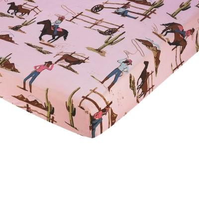 Sweet Jojo Designs Cowgirl Fitted Crib Sheet - Print