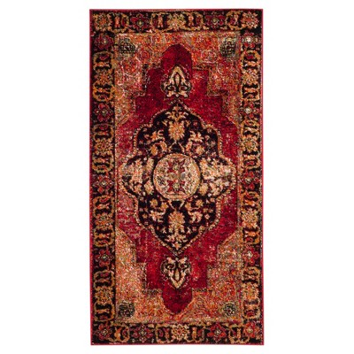 Red/Multi Abstract Loomed Area Rug - (4'x6')- Safavieh®
