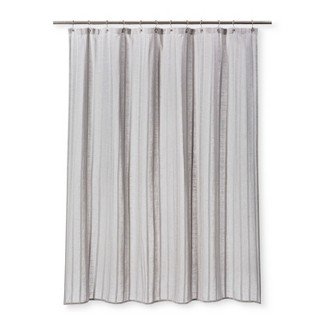Dyed Striped Shower Curtain Cashmere Gray - Threshold™