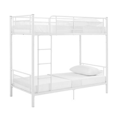 Twin Metal Mesh Frame Bunk Bed White - Saracina Home