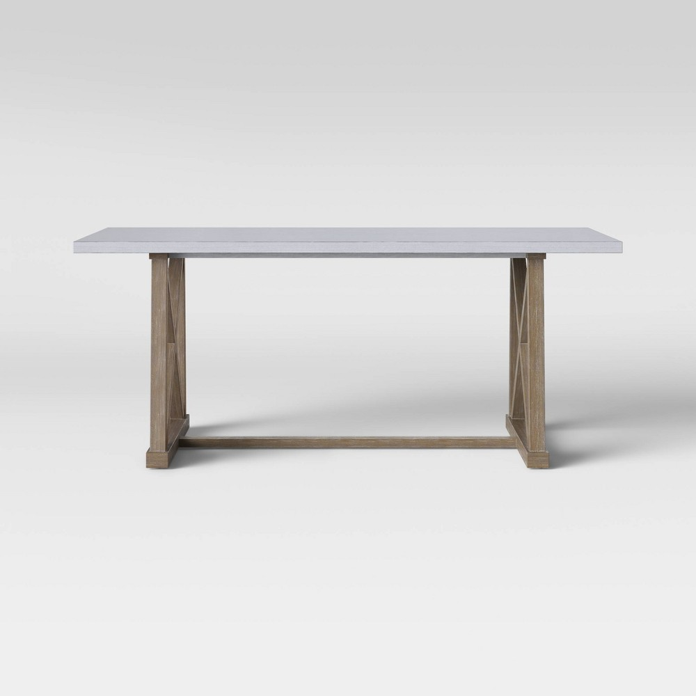 Royalston Cross Base Dining Table Wood/Gray - Threshold