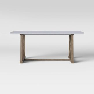 Royalston Cross Base Dining Table Wood/Gray - Threshold™