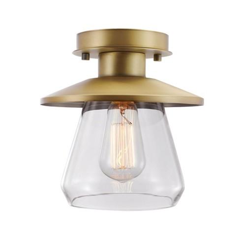 Globe Electric 65987 Nate Single Light 8 Wide Semi Flush Lantern Ceiling Fixture Target
