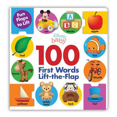 Disney 100 First Words Lift-the-flap -  (Hardcover) - image 1 of 1