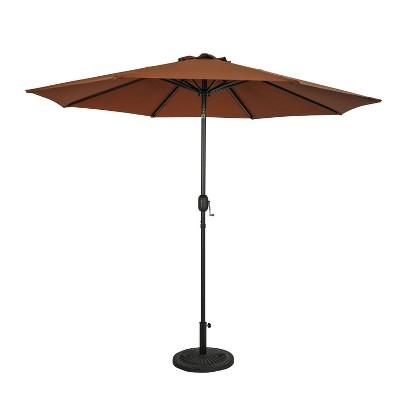9' Trinidad II Market Patio Umbrella Coffee - Island Umbrella