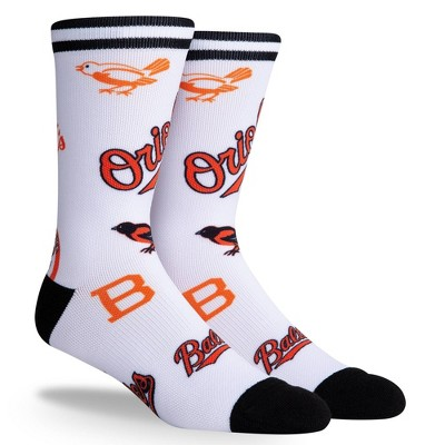 MLB Baltimore Orioles Mixed Up Crew Socks - L