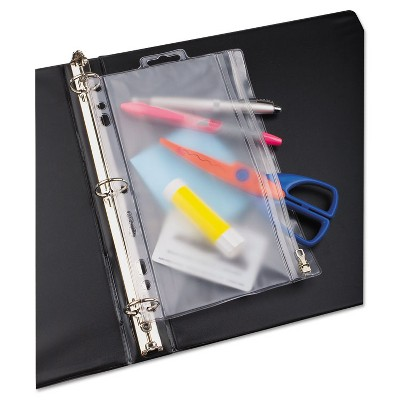 Oxford Zippered Ring Binder Pocket 9 1/2 x 6 Clear 68599