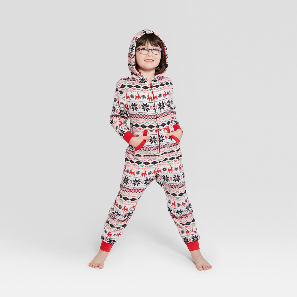 Kids' Holiday Fair Isle Union Suit - Wondershop White 10, Kids Unisex