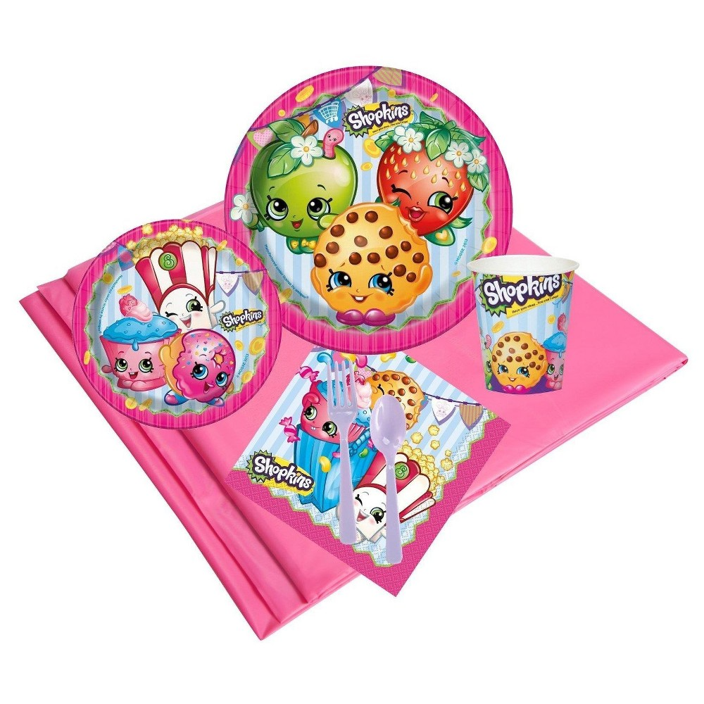 Image of Shopkins 16 Guest Pink Party Pack