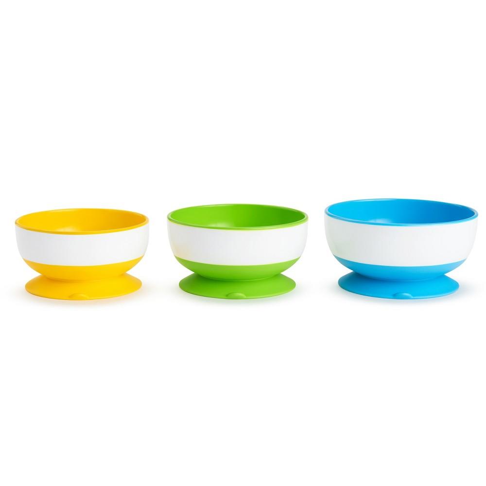 Image of Munchkin 3pk Stay-Put Suction Bowls