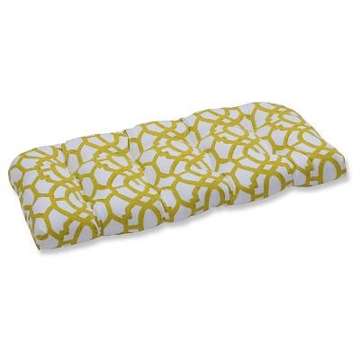 Pillow Perfect Outdoor Seat Cushion - White