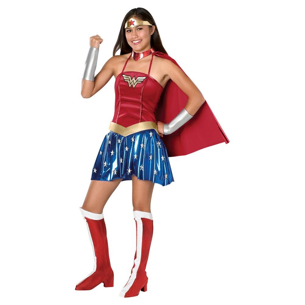Image of Halloween DC Comics Women's Wonder Woman Sassy Costume - Small, MultiColored