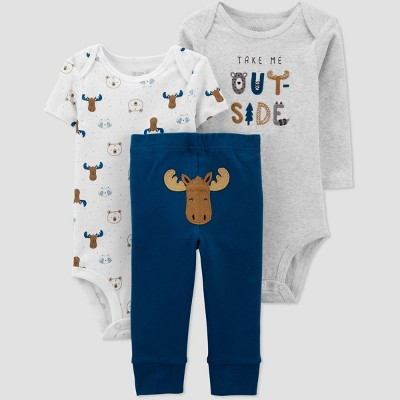 Baby Boys' Moose Top & Bottom Set - Just One You® made by carter's Blue 6M