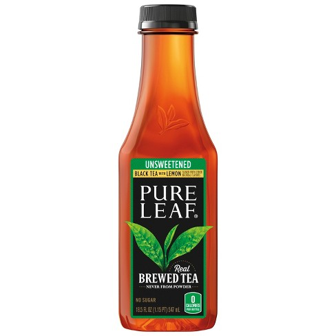 Pure Leaf Unsweetened Tea with Lemon - 18.5 fl oz Bottle - image 1 of 3