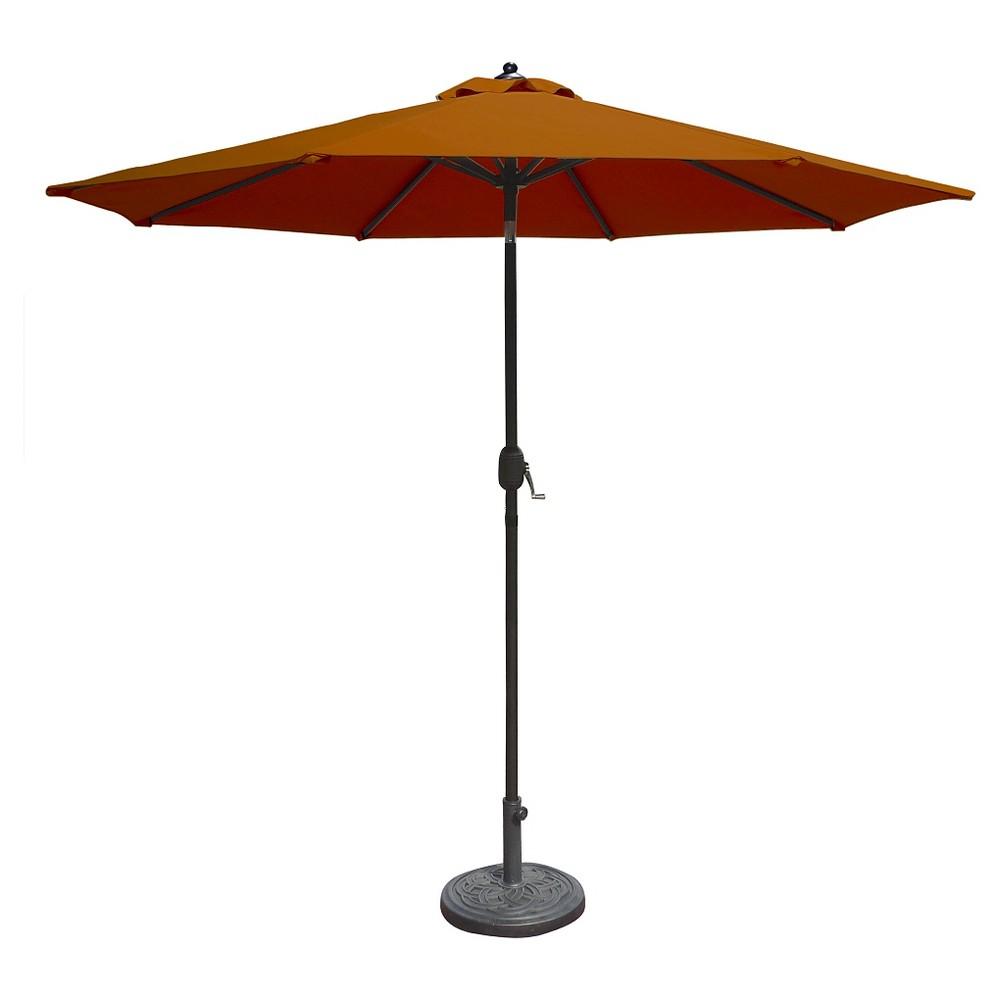 Island Umbrella Mirage 9 Market Umbrella In Terra Cotta Olefin